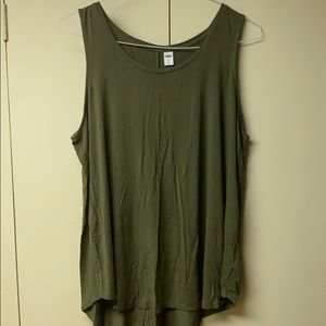 Old Navy Luxe Swing Tank. Olive Green. Size XL